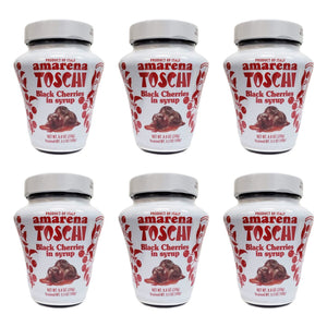 Toschi Amarena Black Cherries in Syrup, 8.8 oz (Pack of 6)