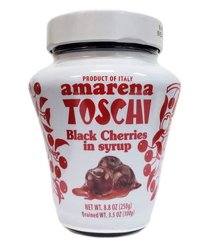 Toschi Amarena Black Cherries in Syrup, 8.8 oz