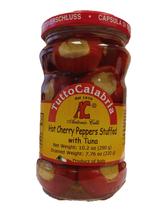 Tutto Calabria Hot Cherry Peppers Stuffed with Tuna - 10.2oz