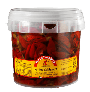 Tutto Calabria Hot Long Chili Peppers Tub - 5.84 lbs