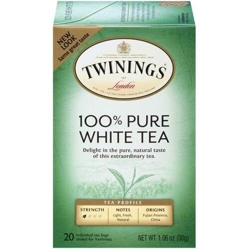 Twinings 100% Pure White Bagged Tea - 20 Count