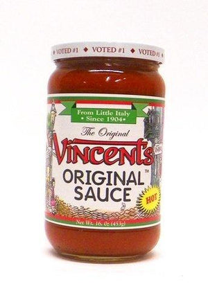 Vincent's Original Sauce Hot, 16 oz