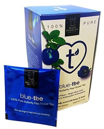 Wild Hibiscus Blue-Tee 100% Pure Butterfly Pea Flower Tea - 20 Teabags (60g each)