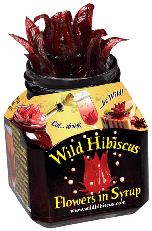 Wild Hibiscus Flowers in Syrup (11 Flowers)  - 8.8 oz