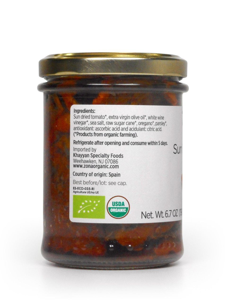 Zona Organic Sun Dried Tomatoes 6 7 Oz