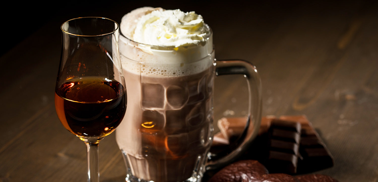 chocolate cocktail with whipped cream