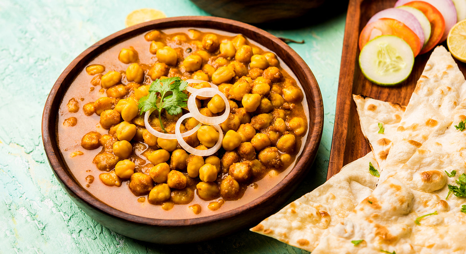 Indian curry with chick peas