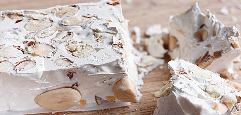 Italian Nougat Made with Nuts