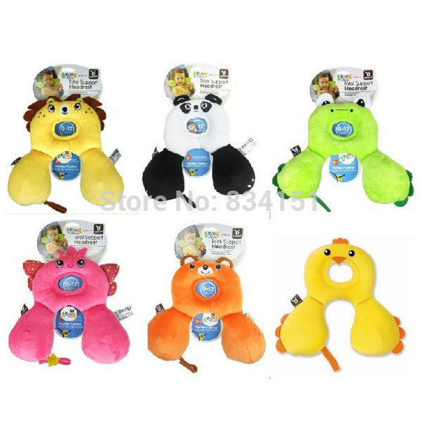 0-12M Cartoon Baby Care Pillow Infant Safety Seat Headrest Baby Travel Pillow - Shopy Max
