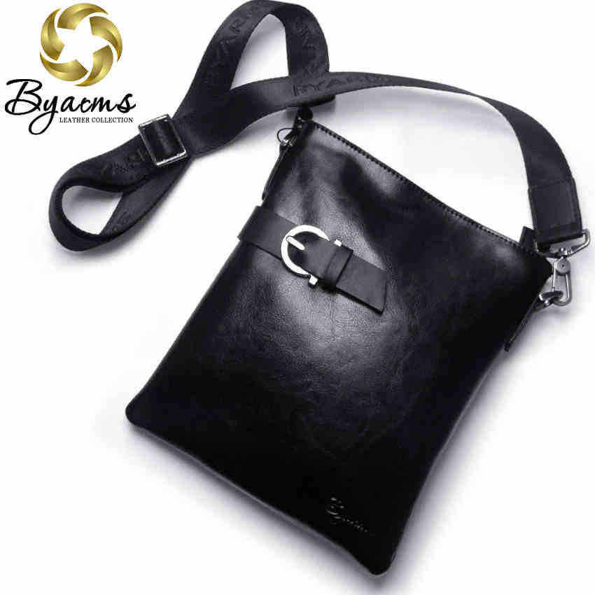 100% Guarantee Genuine Leather Bag, High quality Natural Cowskin Men Messenger Bags, Vintage Shoulder  Crossbody  Bag  #1050 - Shopy Max