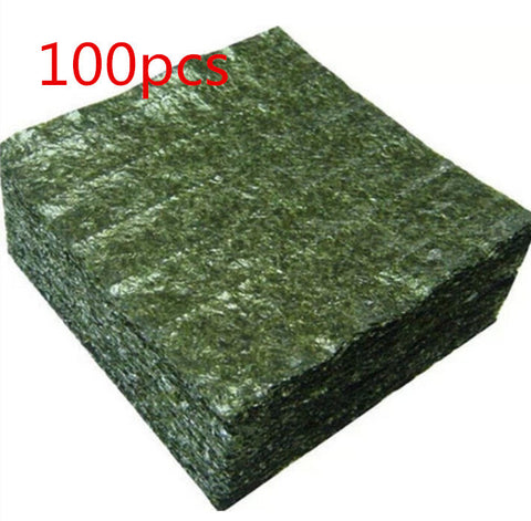 100pcs nori for sushi Seaweed Factory wholesale cheap AAA quality Seaweed, Dark green Secondary baking top selling nori sushi
