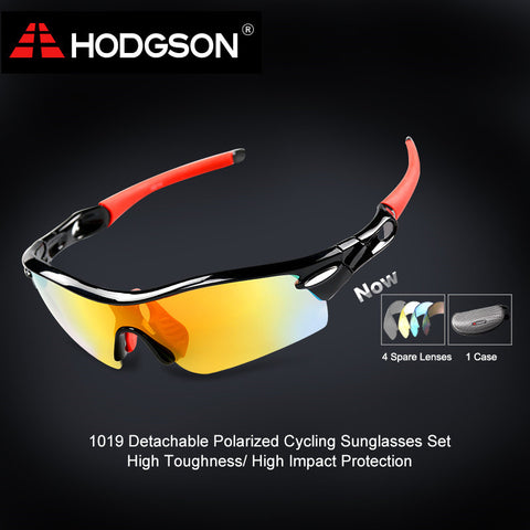 1019 HODGSON Brand Unisex Detachable Professional Cycling Sunglasses Set Men's Outdoor Polarized Bicycle Glasses Sports Eyewear