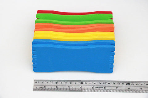 10PCS Fishing Winding Board Foam line board hanging EVA fishing tackle Accessories 16.5cm*6.5cm*0.8cm
