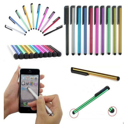 10PCS/LOT Colorful Metal Stylus Touch Screen Pen for iPhone 5 4s iPad 3/2 iPod Touch Smart Phone Tablet PC Universal