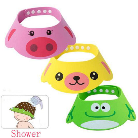 1PCS Adjustable Baby Cap Kid Child Shampoo Bathing Shower Hat Wash Hair Eye Shield Direct Visor Hats For Children Baby Care