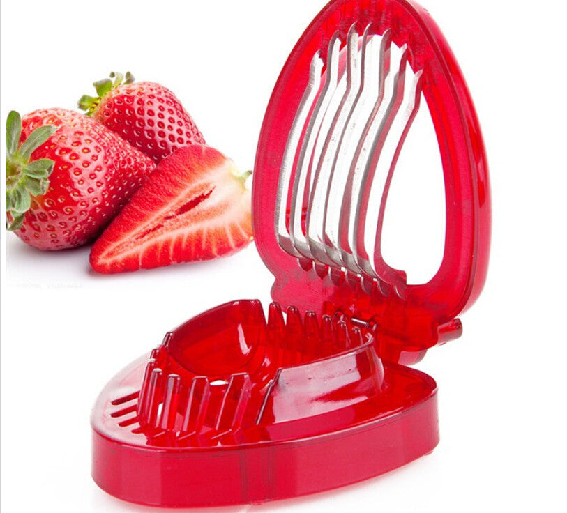 1pcs 2015 strawberries cut fruit knife SIMPLY SLICE STAINLESS STEEL BLADE STRAWBERRY SLICER DESSERTS - Shopy Max