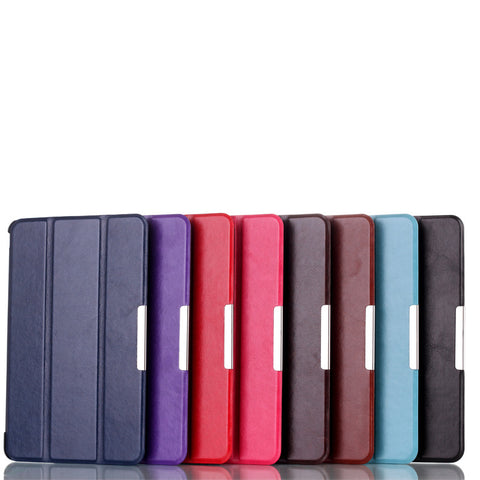 1pcs Magnet Hard Shell PU Leather Cover Case for LG Gpad G Pad V400 V410 7 inch Tablet, Smart + Screen Protector + Stylus Pen