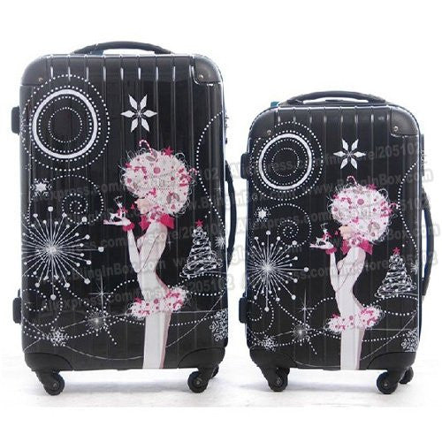 "20"" inches lovely princess girl catoon ABS trolley suitcase luggage/Pull Rod trunk /traveller case box with spinner wheels"