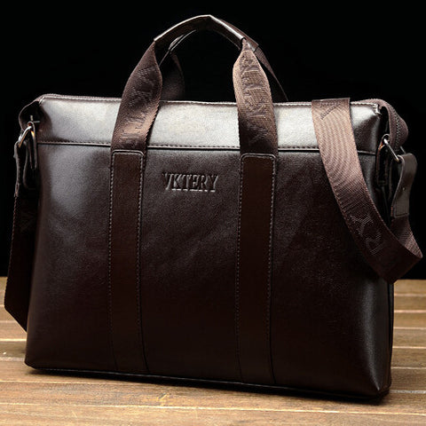 2014 Hot Sale PU leather handbag cowhide male bag commercial briefcase shoulder messenger bag laptop bag Cheap wholesale
