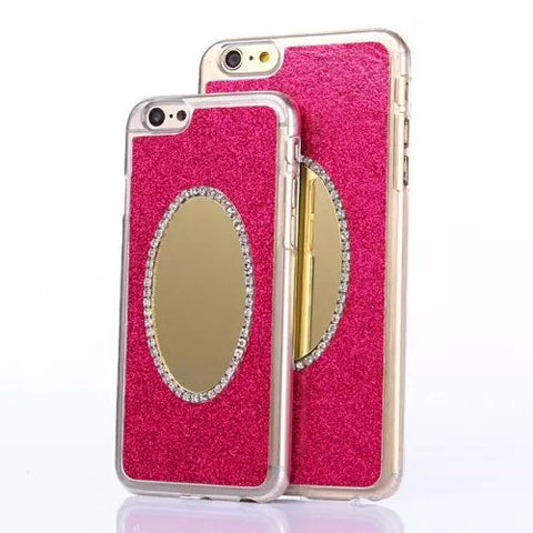 2015 Hot Bling Shinny Luxury Diamond Phone Case for iPhone 6 6Plus Shinning Back Cover with Mirror Phone Cases for iPhone 6 Plus