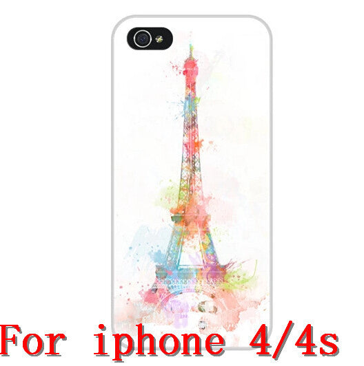 2014 hot New Fashion painted Eiffel Tower Design cases for Apple i phone iphone 4 4s 5 5G 5S Free Shipping