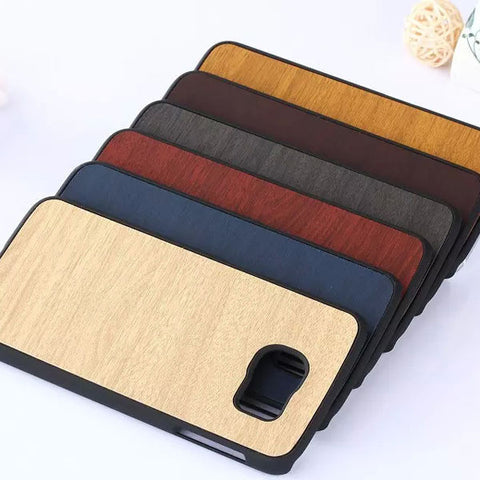 2015 New Arrival Luxury Super Slim Phone Case for Samsung Galaxy S6 G9200 Gel Wooden Hard Back Cover Phone Cases