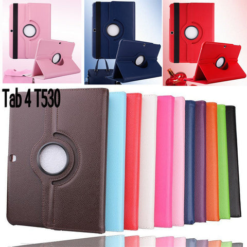 2015 New Case For Samsung Galaxy Tab 4 10.1 inch T530 / T531 / T535 Tablet PU Leather Case Cover Rotating with Free Stylus Pen