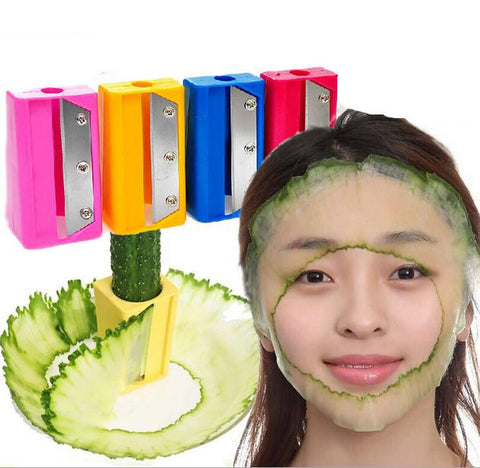 2015 New magic mask slicer cucumber beauty,Cucumber mask cutter beauty device Kitchen Gadget Tool Vegetable Fruit Curl Slicer