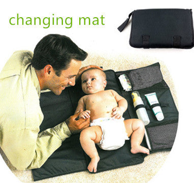 2015 cheap for baby Portable baby changing mat change  changing station new born diaper mat cambiador baby nappy Waterproof 2