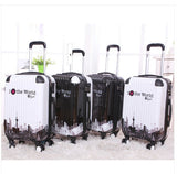 "24""  suitcase luggage traveller case Pull Rod trunk trolley ABS PC Man Women boarding bag with rolling spinner wheels - Shopy Max"
