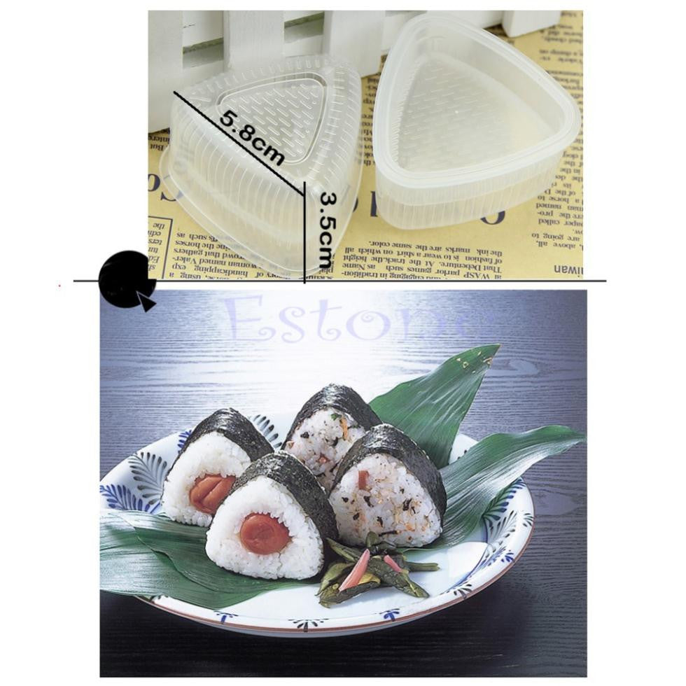 2x Triangle Form Sushi Mold Onigiri Rice Ball Bento Press Maker Mold DIY Tool - Shopy Max