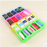 classification of Candy-colored five-underwear storage box plastic desktop storage box drawers finishing Kit