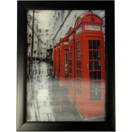 Iconic 3D 25x35cm - London Phone Boxes - Shopy Max