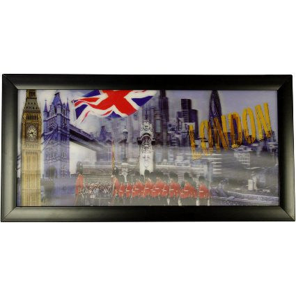 Iconic 3D 23x50cm - London & Flag - Shopy Max