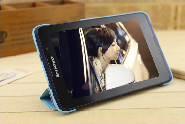 buy popular 42dc6 71b15 A3500 Folio PU Stand Leather Case Stand Cover For Lenovo Tab A7-50 A3500 7  Tablet PC