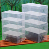 10X Transparent Clear Plastic Shoe Boxes Stackable Foldable Organizer Box Bulk - Shopy Max