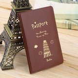 2015 Simple Travel ID&Document Holder Utility Pu Leather Passport Cover 6 Colors