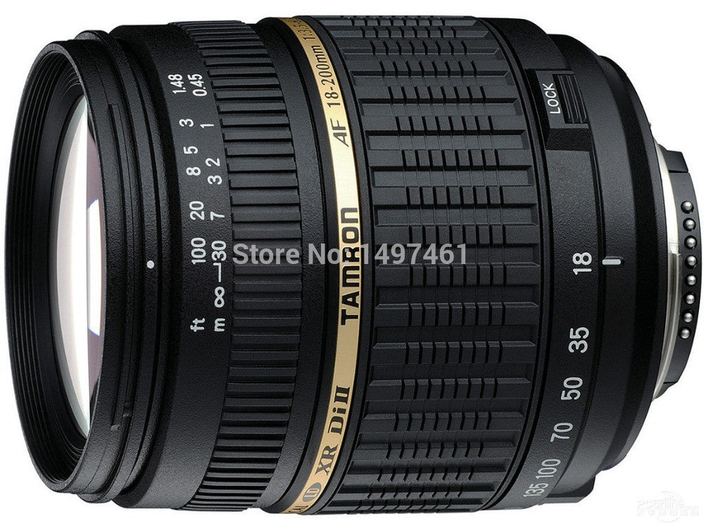 100% NEW For Tamro 18-200mm f/3.5-6.3 XR DI-II LD Aspherical (IF) AF Long telephoto and Automatic focusing lens For Canon mouth - Shopy Max