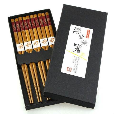 Natural Bamboo Chopsticks Japanese Style Chopsticks KitchenSupplies Fish Print
