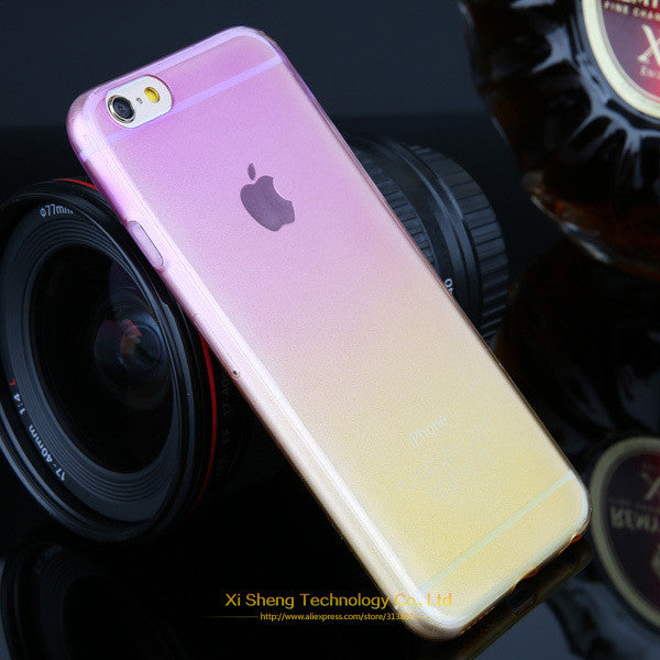 Promotions ! Phone Cases for Apple iPhone 5 5s Case Transparent Gradient Color Design TPU Silicon Phone Covers Shell Top Quality - Shopy Max