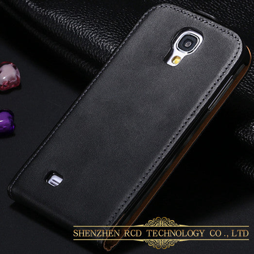 S4 Mini Korean Genuine Leather Sleeve For Samsung Galaxy S4 Mini Cover Magnetic Chip Vertical Flip Mobile Phone Cases - Shopy Max