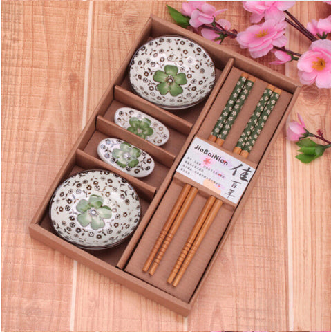 Business gift wedding gift chinese style sushi ceramic porcelain plate