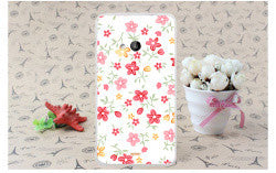 Colorful Brilliant Rose Peony Flowers Painted Phone Cases Hard Back