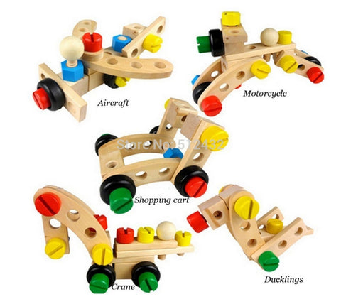 DIY Changeable Nut Building Blocks Car 30 Pcs