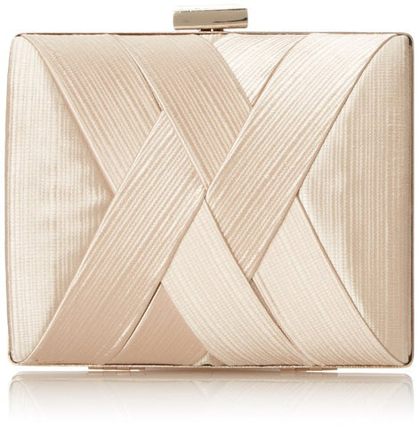 ElegantPark Women Wedding Accessories Party Clutch Satin Crisscross Evening Bag