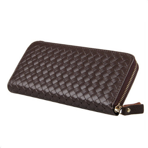 a599070516703 Famous brand fashion men s genuine leather wallet clutch purse travel long wallets  bag wholesale knitting style