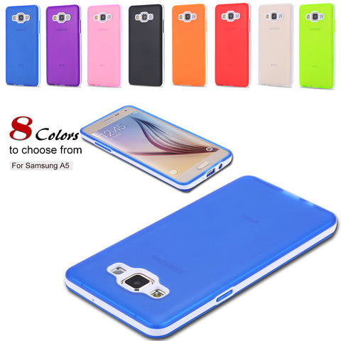 2 in 1 Combo A5 Case Slim Blue Top Quality Silicone Case For Samsung Galaxy