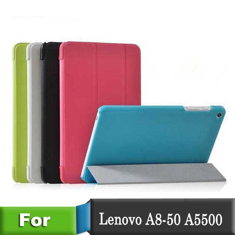 2014 Newest PU Leather Case for Lenovo A5500 Folio PU Stand Leather Case Cover For Lenovo Tab  A5500 8 inch Tablet PC