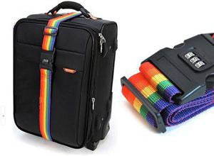 1pcs Minorder Rainbow Travel Luggage Suitcase Strap Luggage suitcase Secure Lock Safe Belt Strap 2m baggage Belt