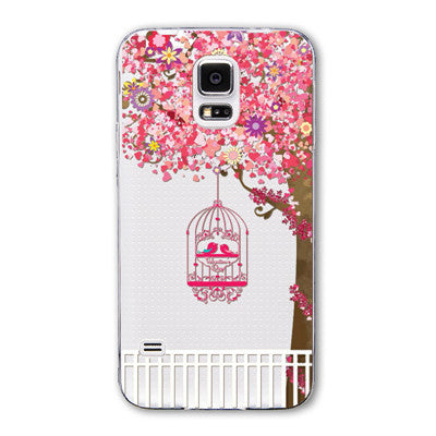 New Arrival Fashion Soft TPU transparent Phone Cases for Samsung S5 i9600 China Wholesale